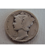 1931-D Mercury dime - only 15 cents shipping per add'l coin! - $14.25 CAD