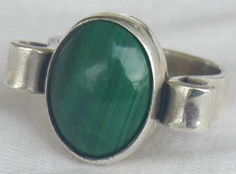Malachite ring 1
