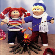 """NEW 16"""" SOFT SCULPTURE DOLL COTHES TO KNIT LEISURE ARTS 368 - $3.95"""