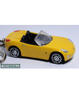 KEY CHAIN YELLOW PONTIAC SOLSTICE/SKY CONVERTIBLE KEYRING - $28.97