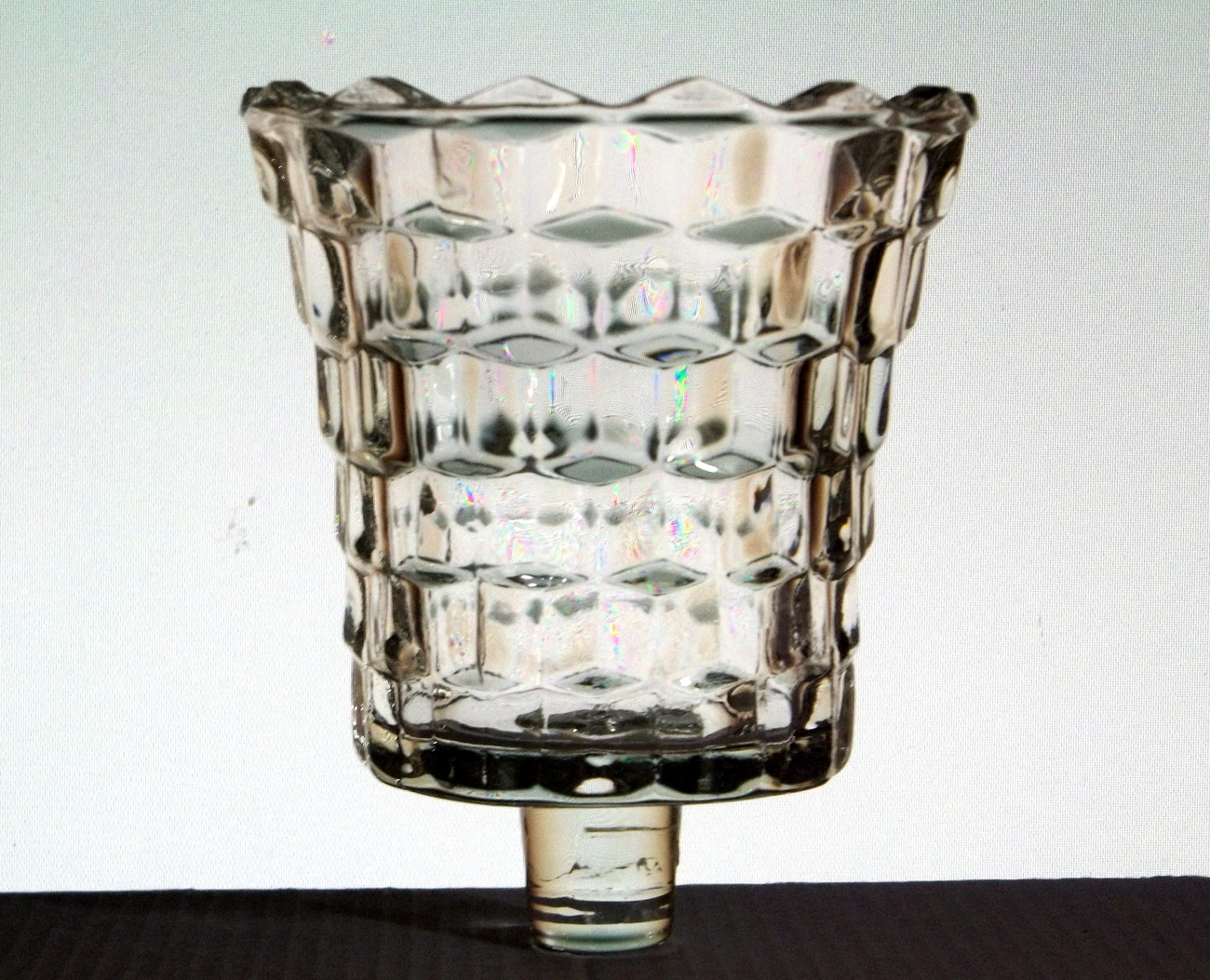 Home Interiors Pegged Votive Candle Cup Lady Love Clear