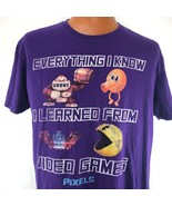 Everything I Know I Learned From Video Games T Shirt XL Pacman Qbert Don... - $24.74