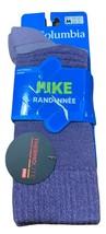 COLUMBIA Socks Purple Lightweight Hike Randonnee Medium Unisex New - $12.60