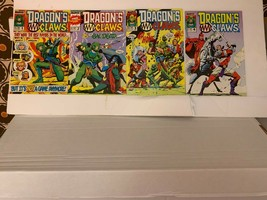 DRAGON'S CLAWS (MARVEL COMICS UK) 1988-1989 VF 7 BOOK LOT WITH FREE SHIP... - $10.40