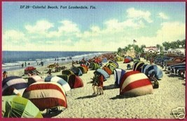 FT LAUDERDALE FLORIDA Beach Colorful Cars FL - $8.00