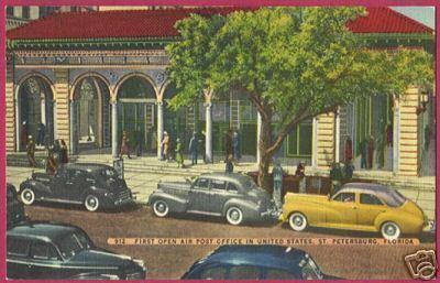 ST PETERSBURG FLORIDA Post Office Linen Cars NICE