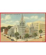 JACKSONVILLE FLORIDA First Baptist Church Linen FL - $6.50