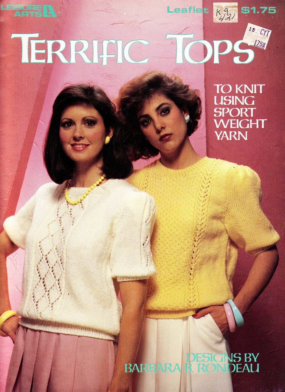 TERRIFIC TOPS TO KNIT WITH SPORTS YARN  LEISURE ARTS 421
