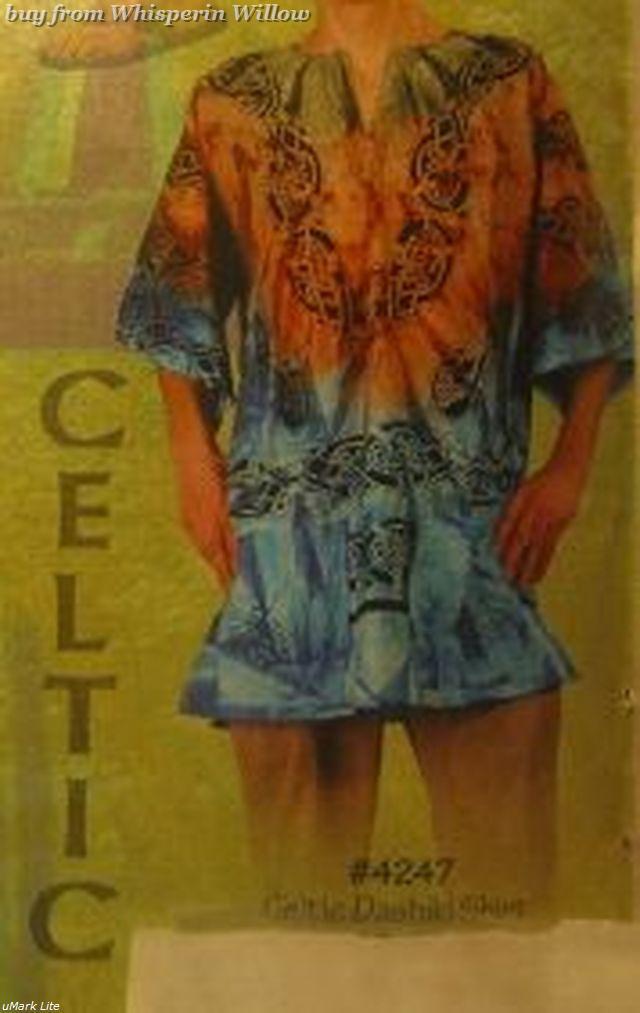 Tye dye celtic dashiki shirt 1