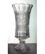 Pedestal Vase Vintage Celery Flower Primrose Mu... - $39.99
