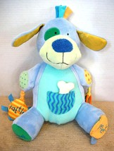 "Manhattan Toy Peek Squeak Plush Activity Puppy Dog 12"" Teether Rattle image 2"