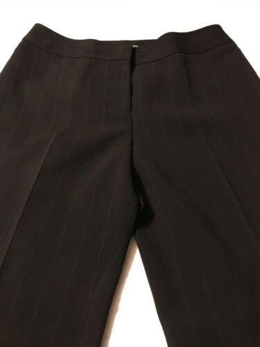 Ann Taylor Women's Pants Black Pinstripe Fully Lined Dress Pants Size 10 X 30