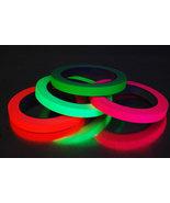 4 Pack Half Inch UV Blacklight Reactive Fluorescent Gaffer Tape 4 Rolls ... - $19.95
