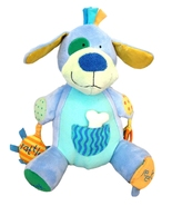 "Manhattan Toy Peek Squeak Plush Activity Puppy Dog 12"" Teether Rattle - $11.90"
