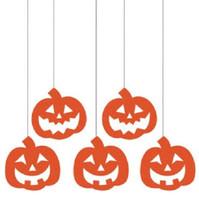 Pumpkins Hanging Glitter Cutouts 5 ct Party Dizzy Danglers Swirls - $4.49