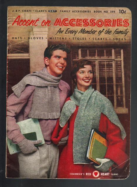 Accent on Accessories, Vintage Crochet & Knitting Patterns, 1953, 1st Edition