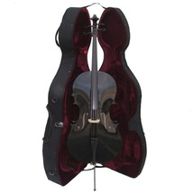 Crystalcello MC150BK 3/4 Size Black Cello with Case,Bag,Bow - $389.99