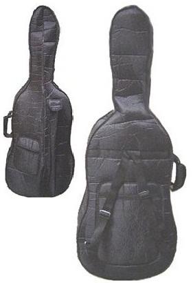 Crystalcello MC150BK 3/4 Size Black Cello with Case,Bag,Bow