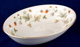 Royal Doulton Strawberry Cream Oval Serving Bowl TC1118 - $15.00