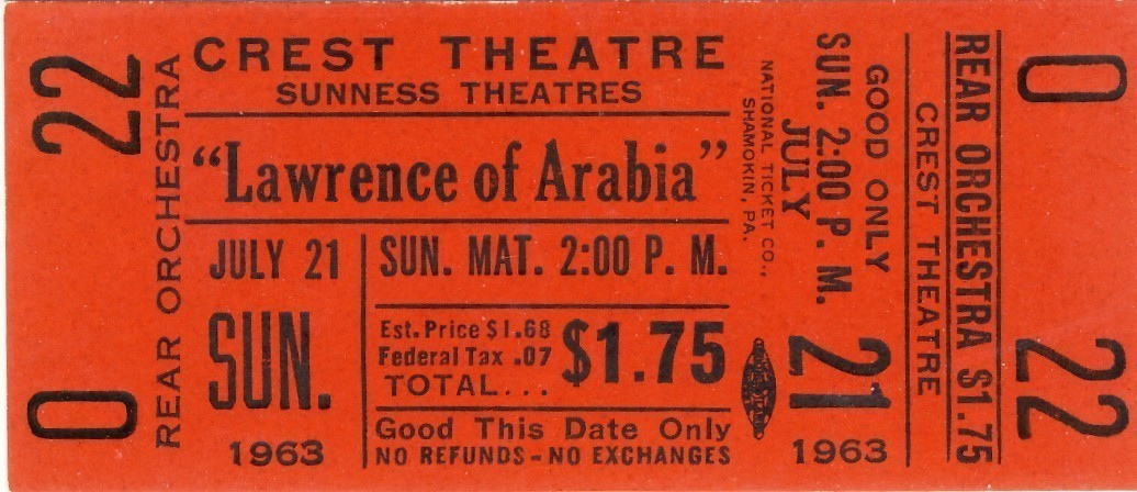 Lawrence of arabia ticket red