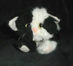Vintage 1992 Tyco Kitty Kitty Gatitos Negro & Blanco Gato Peluche Plush Toy - $43.17