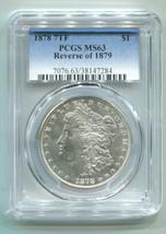 1878 7TF REVERSE OF 1879 MORGAN SILVER DOLLAR PCGS MS63 NICE ORIGINAL PR... - $325.00