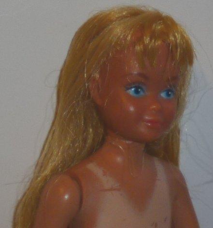 Vintage 80s Barbie sister SKIPPER Sun Lovin' MALIBU Doll w/TAN lines