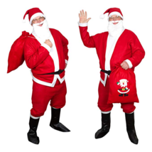 Mens Professional Quality Santa Claus Christmas Complete Set Costume  - $43.44