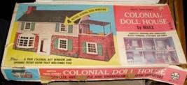 Vtg 1968 MARX Colonial tin litho DOLL HOUSE Kit... - $62.97