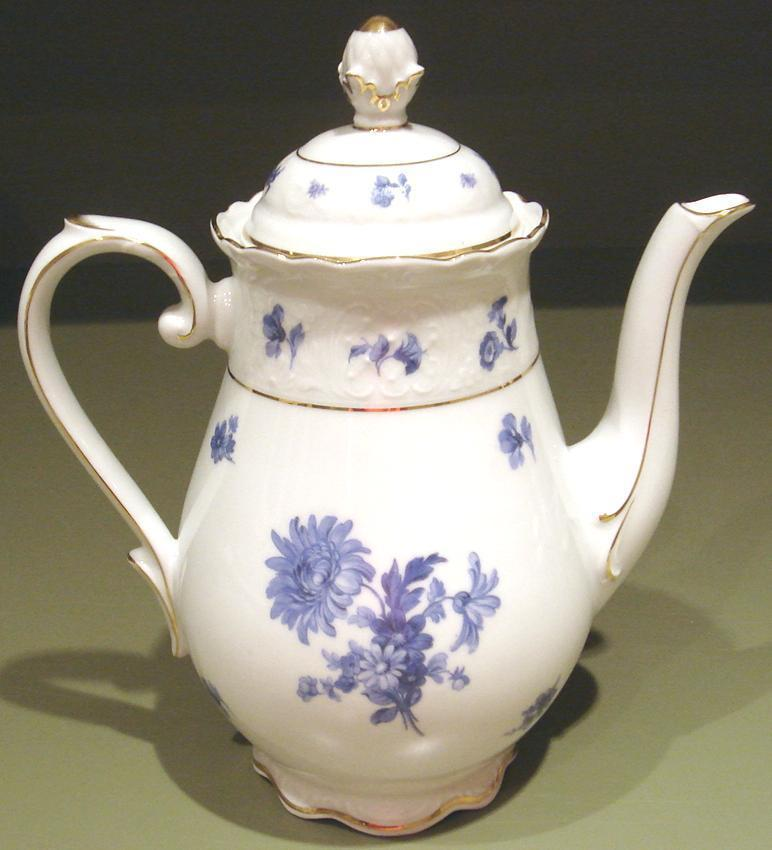 Germany Fine Porcelain Blue & White Teapot Schumann