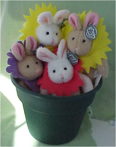 4 Blooming Bunnies (potted) Princess Soft Toys