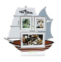 5 inch+3 inch Creative Cartoon Swing Sets Children's Photo Frame Sailboat Model
