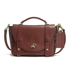 NWT Coach Bleecker Python Leather Brooklyn Mess... - $248.00