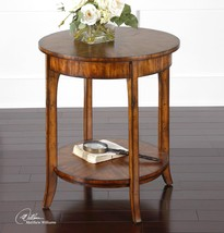 "NEW 22"" SOLID WOOD & VENEER BARN FINISH END ACCENT TABLE VINTAGE MODERN ... - $217.80"