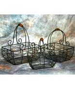 Set of 3 Wire Baskets - $12.95