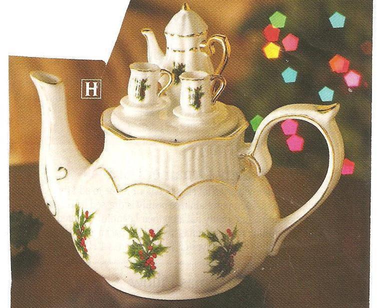 Christmas Collectible Holiday Teapot