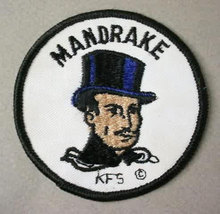 MANDRAKE THE MAGICIAN  vintage jacket or shirt patch - $15.00
