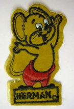 HERMAN MOUSE figural vintage jacket or shirt patch Harvey Comics cartoon - $15.00