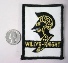 WILLYS KNIGHT car  vintage jacket or shirt patch - $10.00