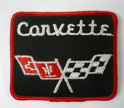CORVETTE square black logo  vintage jacket or shirt patch - $13.50
