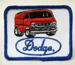 DODGE VAN  orange  vintage jacket patch.  mint - $11.00