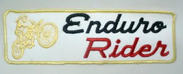 large ENDURO RIDER motorcycle back patch - $14.00