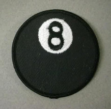 figural EIGHT BALL shirt or jacket patch.  Harley Motorcycle - $12.00