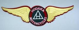 giant back patch. HODAKA Wings.  figural.  .   vintage motorcycle jacket patch - $23.50