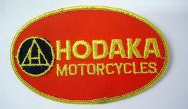 patch.  HODAKA MOTORCYCLES.  oval.  vintage motorcycle jacket patch - $12.50