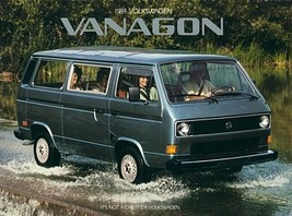 1984 Volkswagen VANAGON sales brochure catalog 84 VW Camper - $9.00
