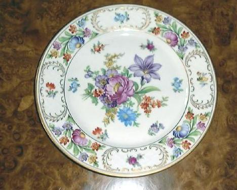 Dresden flowers luncheon plate