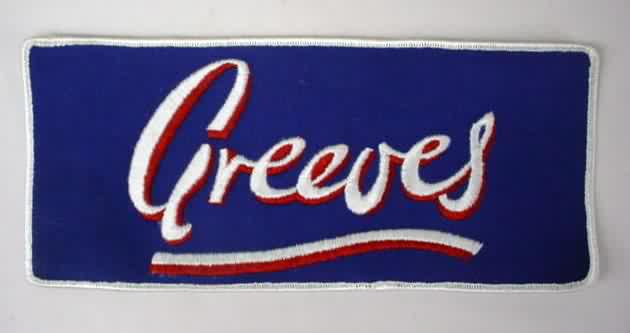 GREEVES motorcycle LARGE vintage jacket or shirt patch - $12.50