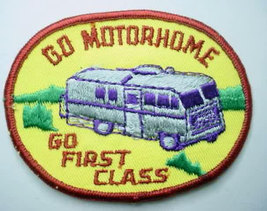 Go MOTORHOME - Go FIRST CLASS vintage jacket patch - $10.00