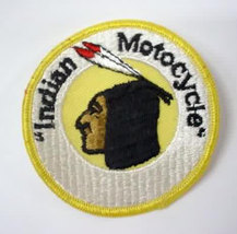vintage INDIAN MOTORCYCLES round jacket or shirt patch - $18.00